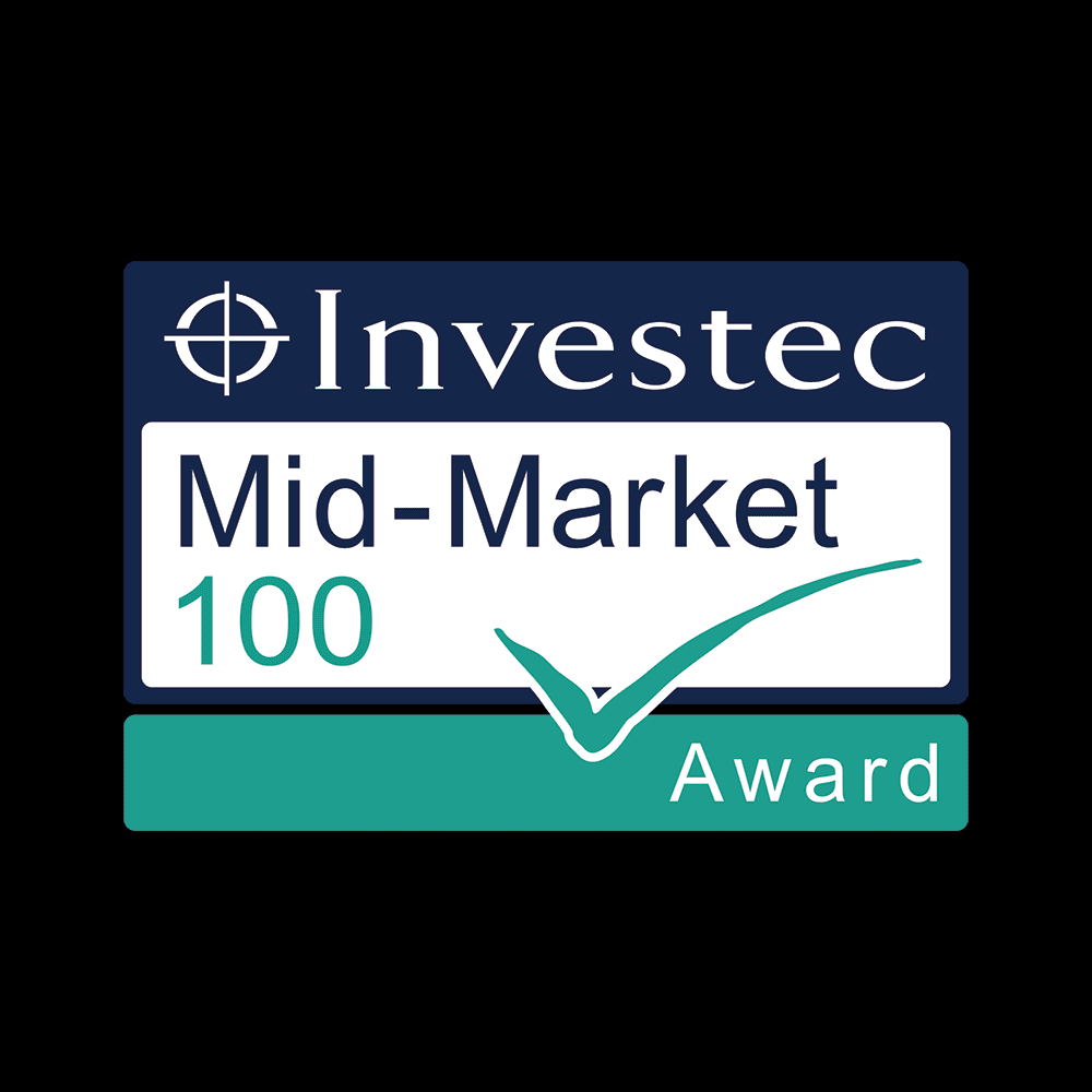 DK Engineering ranked number 32 in the Investec Mid-Market top 100