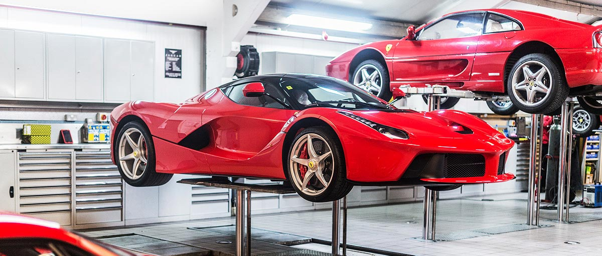 Contemporary Ferrari Servicing